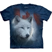 Canadian White Wolf T-shirt Adult