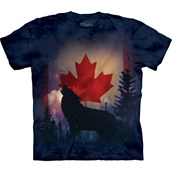 Canadian Howl Wolf T-shirt, Adult