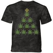 Christmas Cannabis T-shirt Adult