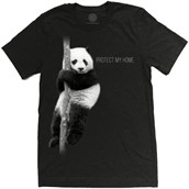 Panda Protect My Home Mens Triblend T-shirt