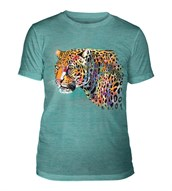 Painted Cheetah Mens Triblend, TEAL