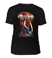 Painted Elephant Mens Triblend, SORT