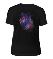 Cosmic Wolf Mens Triblend