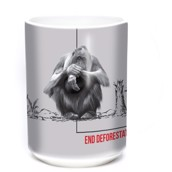 Deforestation Orangutan Ceramic mug 4,4 dl.