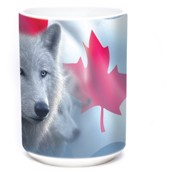 Canadian White Wolf Ceramic mug 4,4 dl.
