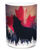 Canadian Howl Wolf Ceramic mug 4,4 dl.