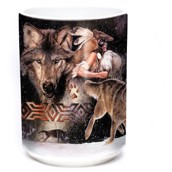 Arapaho Wolf Moon Ceramic mug 4,4 dl.