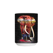 Painted Elephant Ceramic Mug