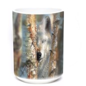 Focused Wolf Ceramic mug