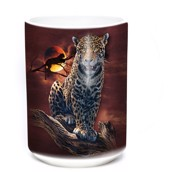 Blood Moon Leopard Ceramic mug