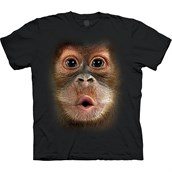 Big Face Baby Orangutan T-shirt Unisex
