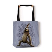 Warrior Sloth Tote Bag, GRÅ