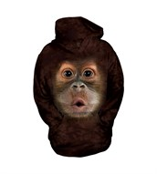 Big Face Baby Orangutan child hoodie