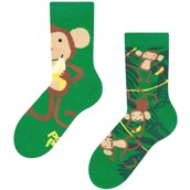 Good Mood kids socks - MONKEYS