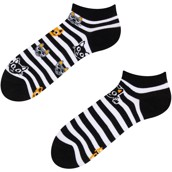 Good Mood adult low socks - CAT & STRIPES