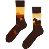 Good Mood adult socks - WILD HORSES