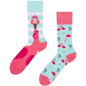 Good Mood adult socks - TANGLED FLAMINGO