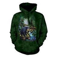 Black Bear Forest Adult hoodie