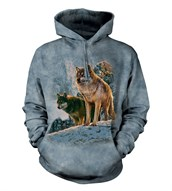 Wolf Couple Sunset adult hoodie
