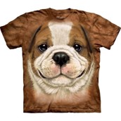 Big Face Bulldog Puppy t-shirt