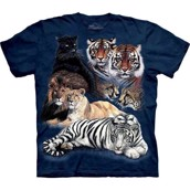 Big Cat Collage t-shirt