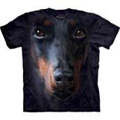 Doberman face t-shirt