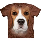 Beagle face t-shirt, Adult Large
