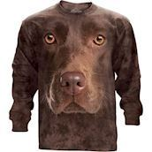 Chocolate Lab Face long sleeve