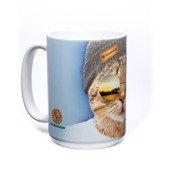 Cool Hipster Cat Ceramic mug