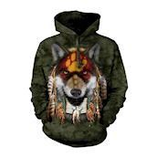 Native Wolf Spirit Adult Hoodie