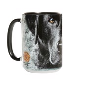 Black Lab Face Ceramic mug