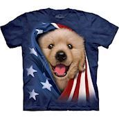 Patriotic Golden Pup t-shirt