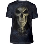 Big Face Death Mens Triblend Tee
