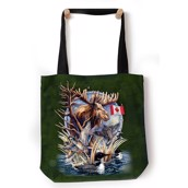 Loon Collage Tote Bag