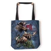 Canadian Moose Collage Tote Bag