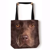Chocolate Lab Face Tote Bag