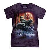 Fire And Ice Wolves ladies t-shirt