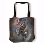 Flag Bearing Eagle Tote Bag
