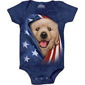 Patriotic Golden Pup Bodystocking