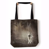 Grey  Wolf Portrait Tote Bag