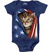 Patriotic Kitten Bodystocking