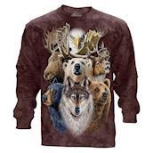 Northern Wildlife Collage long sleeve