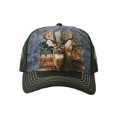 Patriotic Buck Trucker Cap