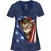Patriotic Kitten Tri-Blend T-shirts