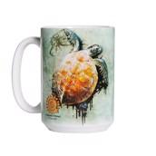 Sea Turtle Climb Ceramic mug