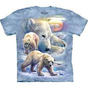 Sunrise Polar Bear Collage t-shirt