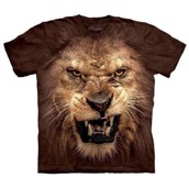 Big Face Roaring Lion t-shirt