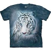 Thoughtful White Tiger t-shirt, Child XL