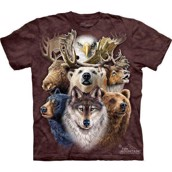 Northern Wildlife Collage t-shirt