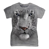 White Tiger Face ladies t-shirt